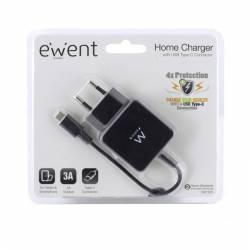EWENT EW1305 Cargador USB TIPO C 3 A 15W