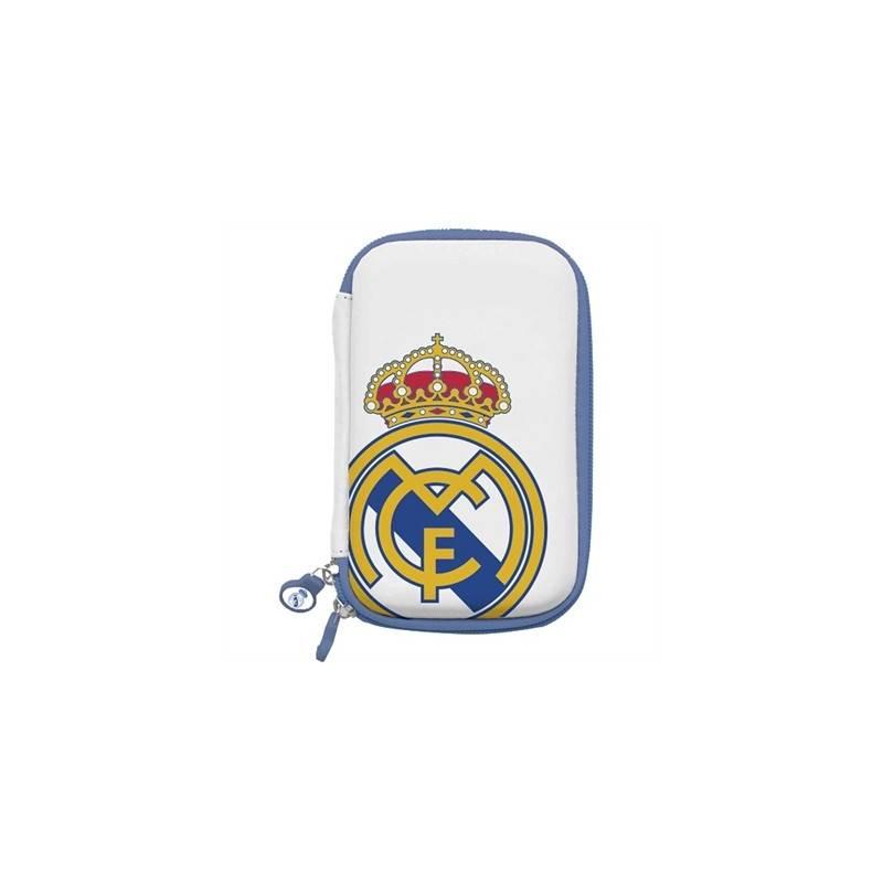 Real Madrid Funda Disco Duro 35 Blanca Escudo