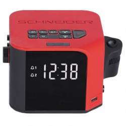 Schneider Radio reloj despertador Luna proyector R