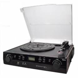 Brigmton BTC 406 Tocadiscos Cassette Grabador