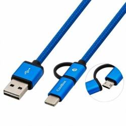 Coolbox Cable MULTIUSB MICRO C Azul