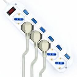 EWENT EW3932 5m Regleta 6 Tomas 6 interruptor 5m