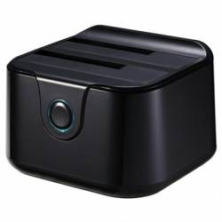 Tooq TQDS 802B Dock Station Doble Bahia HDD Negro
