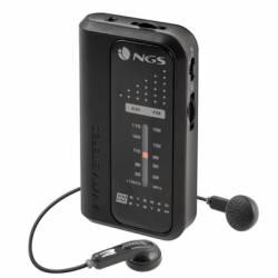 NGS Radio Portatil con auriculares CODEKNOCK AM FM