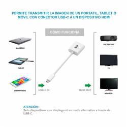 CONVERSOR USB C A HDMI 4K 15 CM