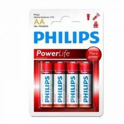 Philips Pila Alcalina LR6 AA Pack 4