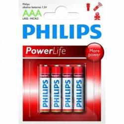 Philips Pila Alcalina LR03 AAA Pack 4