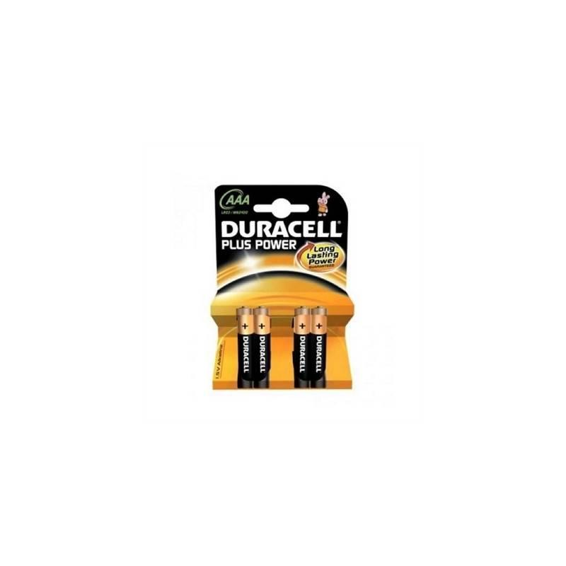 Duracell Pila Alcalina Plus Power LR3 AAA Pack 4