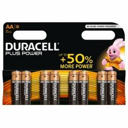 Duracell Plus Power Pila Alcalina AA LR6 Blister8