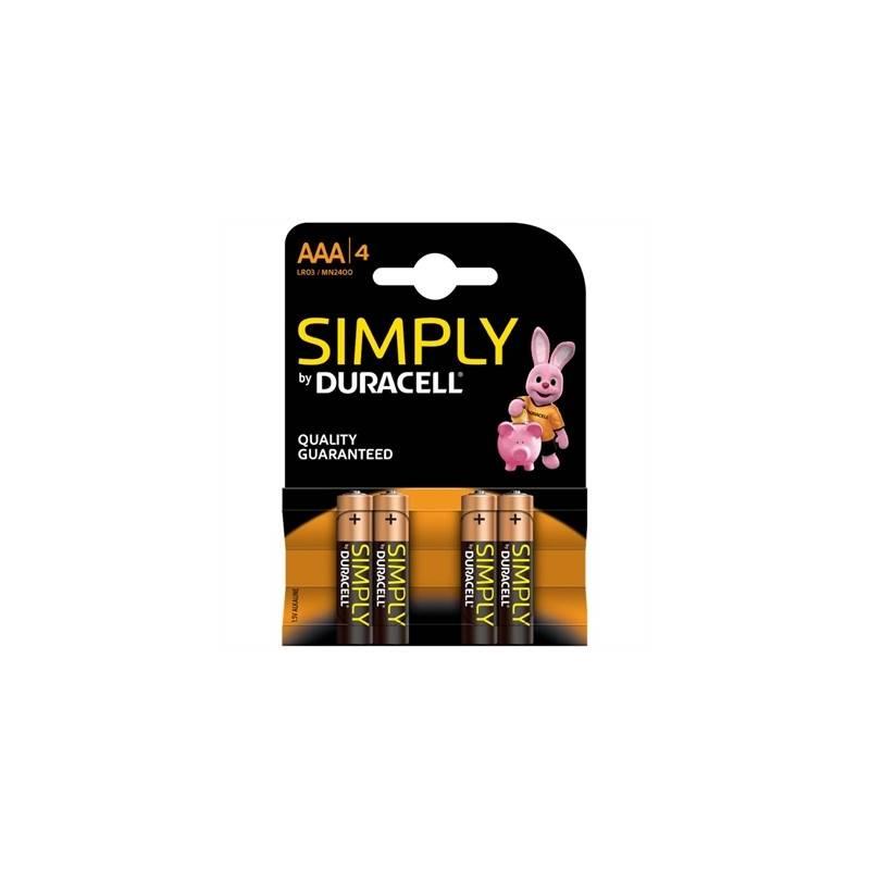 Duracell Simply Pila Alcalina AAA LR03 Blister4