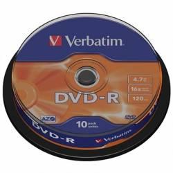 Verbatim DVD R 47GB 16x Tarrina 10Uds