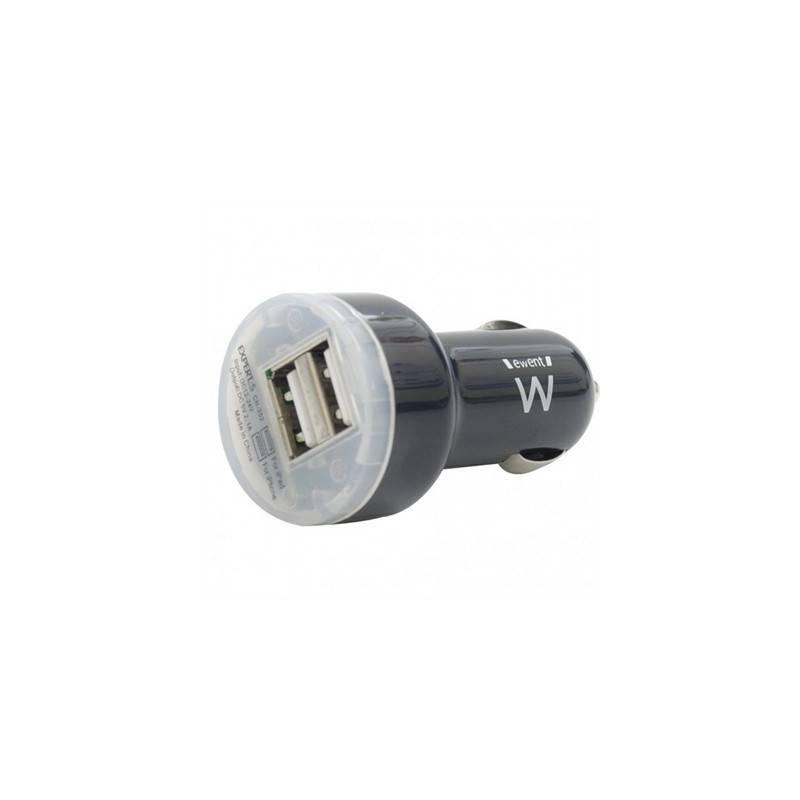 EWENT EW1203 Cargador Coche 2 puertos USB2