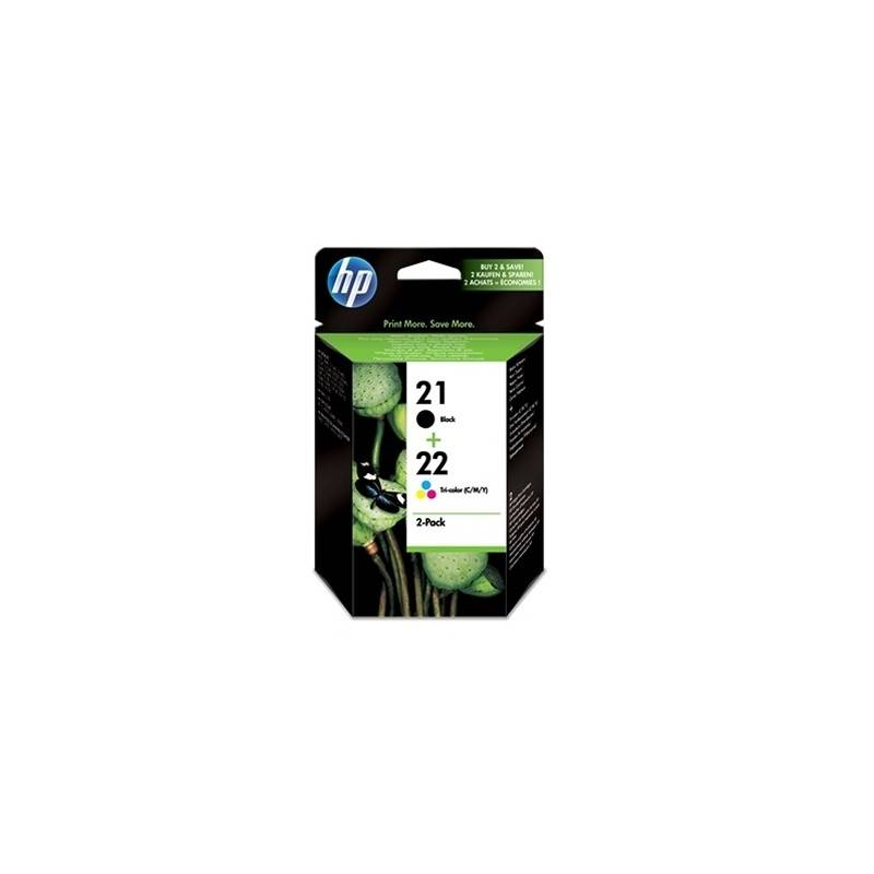 HP SD367AE pack cartuchos NegroTricolor HP21HP22