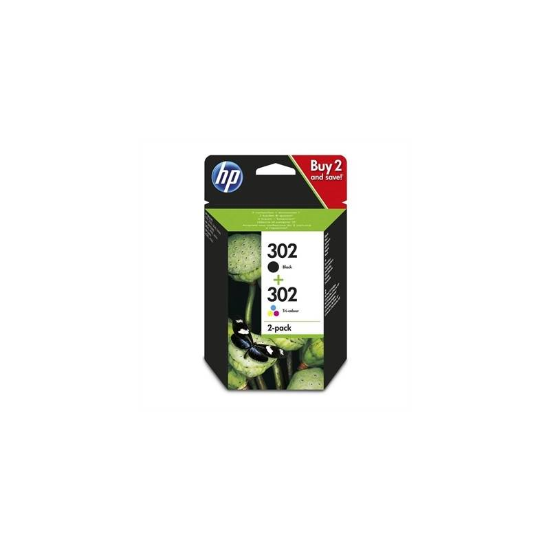 HP 302 Pack Negro Color X4D37AE