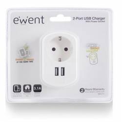 EWENT EW1211 Cargador 2 puertos usb 31A