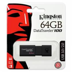 Kingston DataTraveler DT100G3 64GB USB 30 Negro