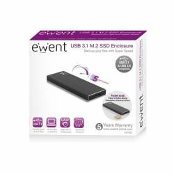 Ewent EW7023 Caja externa SSD M2 USB 31 Aluminio