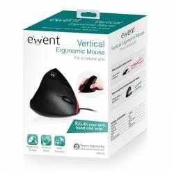 EWENT EW3156 Raton Ergonomico USB Negro