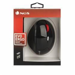 NGS Raton ergonomico Inalambricos Negro
