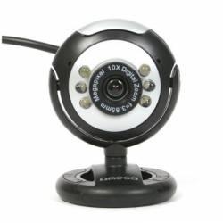 Omega WebCam C12SB 12Mpix Microfono Negro