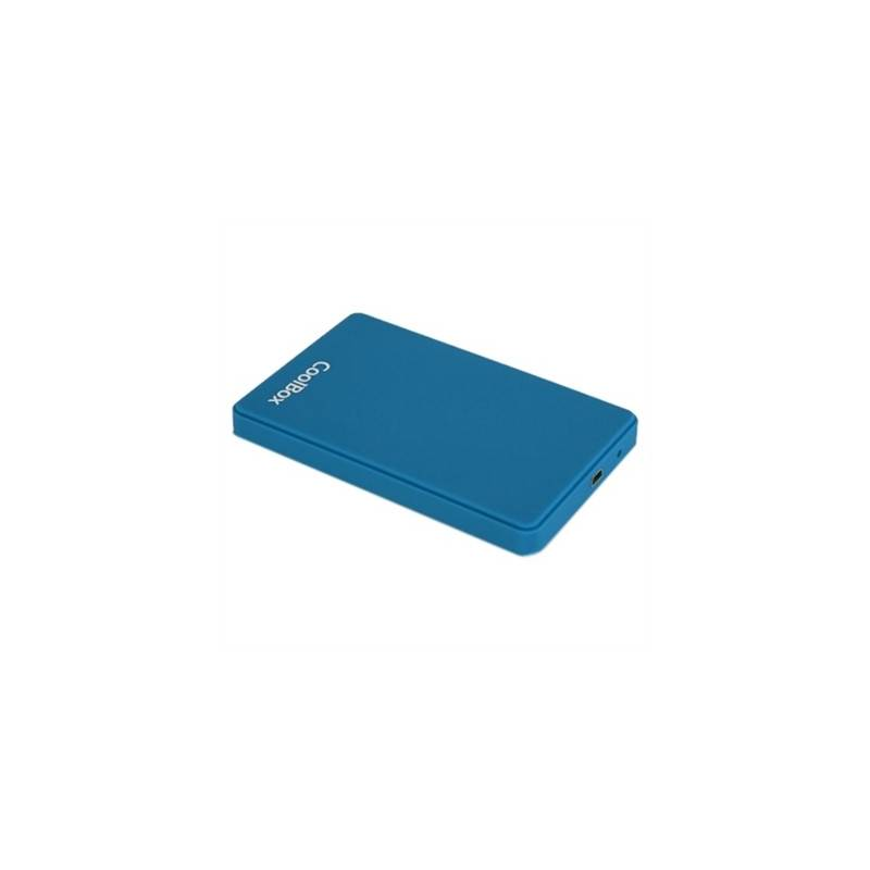 CoolBox caja HDD SCG2543 25 30 AZUL OSCURO