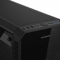 Nox Caja Semitorre ATX HUMMER TGX RGB Cristal Tem